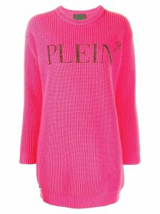 Philipp Plein Statement logo jumper - PINK