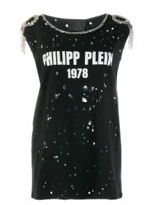 Philipp Plein embellished distressed T-shirt - Black