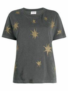 Saint Laurent distressed star print T-shirt - Grey