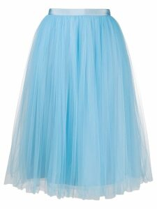 Delpozo tulle midi skirt - Blue
