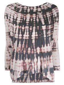 Raquel Allegra tie-dye top - NEUTRALS