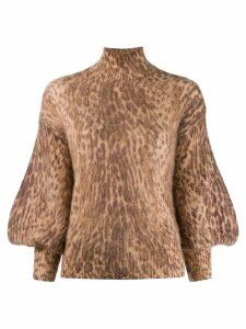 Zimmermann leopard print sweater - Brown