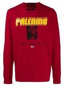 Diesel printed sweater - Red