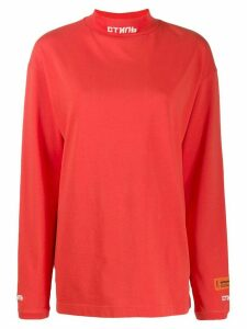 Heron Preston stand up collar jumper - Red