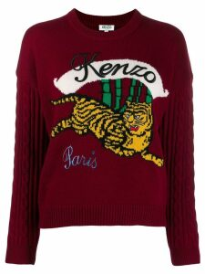 Kenzo running tiger sweater - Red
