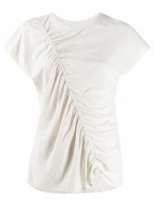 Raquel Allegra ruched shirt - NEUTRALS