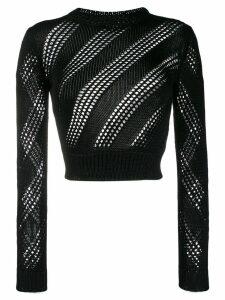 Saint Laurent knitted mesh top - Black