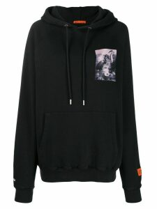 Heron Preston chest print hoodie - Black