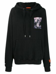 Heron Preston chest print hoodie - Black