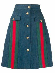 Gucci a-line denim skirt - Blue