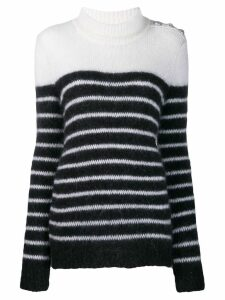 Balmain striped knitted jumper - Black