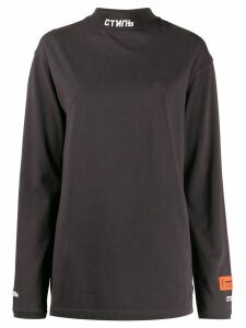 Heron Preston stand up collar jumper - Grey