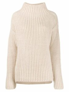 Sly010 chunky knit turtleneck jumper - Neutrals