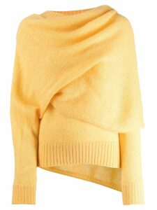 Rejina Pyo draped neck jumper - Yellow