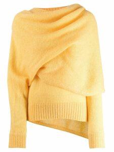 Rejina Pyo draped neck jumper - Yellow
