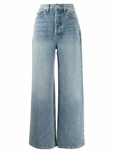 RE/DONE wide-leg flared jeans - Blue