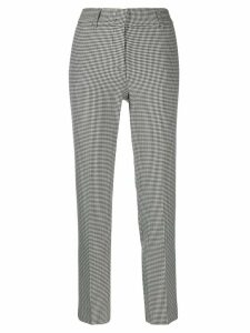 Piazza Sempione houndstooth tailored trousers - Black