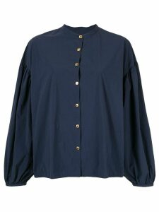 Kolor long-sleeve flared blouse - Blue
