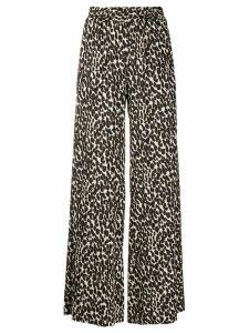 La Doublej leopard print palazzo pants - NEUTRALS