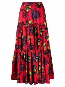 La Doublej printed full skirt - Red