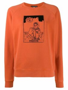 Alexa Chung graphic sweatshirt - Orange