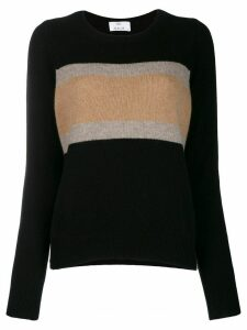 Allude ribbed jumper - Black