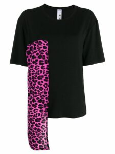Ultràchic leopard print asymmetric top - Black
