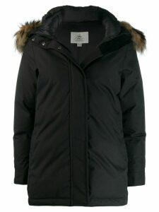Pyrenex fur hooded coat - Black