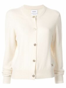 Barrie round neck cardigan - White