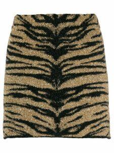Laneus Tiger print skirt - Black