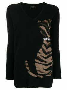 Liu Jo cat-print sweater - Black