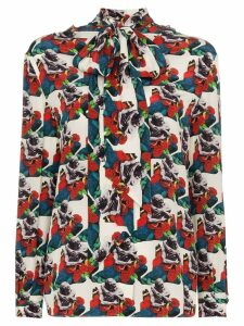 Valentino x Undercover Lovers print blouse - Red