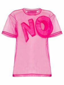 Viktor & Rolf No-appliqué mesh T-shirt - PINK