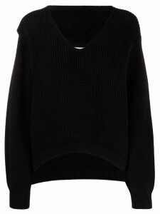 T By Alexander Wang ribbed knitted jumper - Black