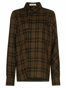 Delada checked long-sleeve shirt - Brown