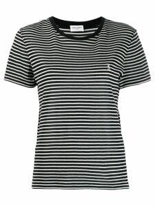 Saint Laurent striped T-shirt - Black