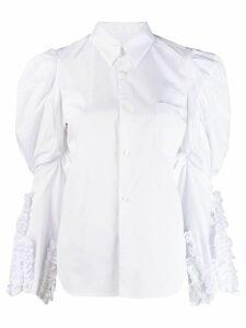 Comme Des Garçons oversized-sleeve shirt - White