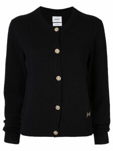 Barrie round neck cardigan - Black