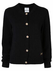 Barrie round neck cardigan - Black