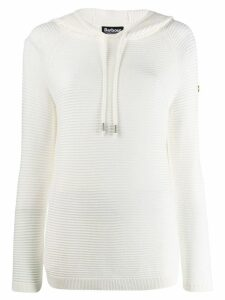 Barbour ribbed design hoodie - White