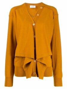 Lemaire layered button-embellished jumper - Yellow