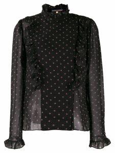 Alexa Chung Orléans ruffled blouse - Black