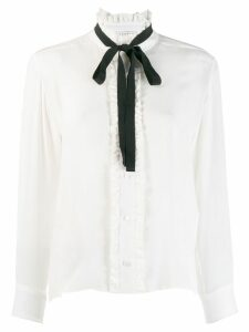 Sandro Paris long-sleeved bow blouse - White