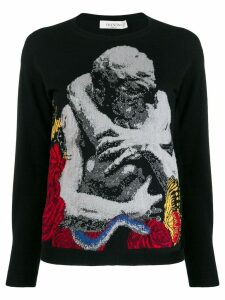 Valentino Lovers intarsia sweater - Black