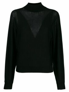 Alberta Ferretti cable knit jumper - Black