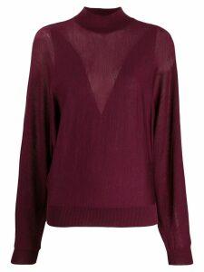 Alberta Ferretti fine knit jumper - Red