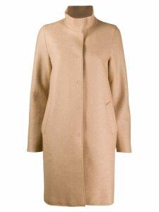 Harris Wharf London high neck coat - Neutrals