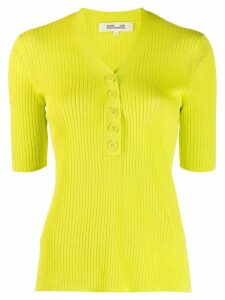 Diane von Furstenberg button-up knitted top - Green