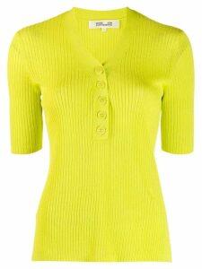 Diane von Furstenberg button-up knitted top - Green