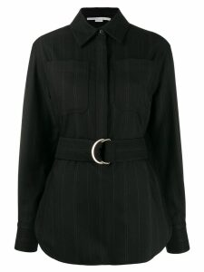 Stella McCartney striped belted shirt - Black